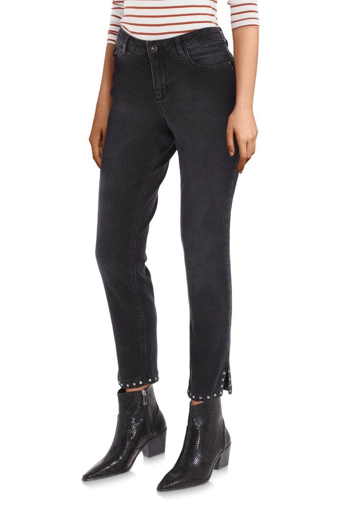 Zwarte jeans met studs - slim fit