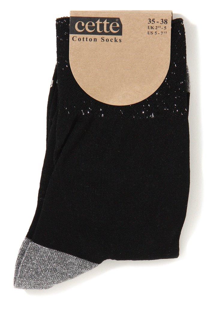 Zwarte katoenen sokken met lurex