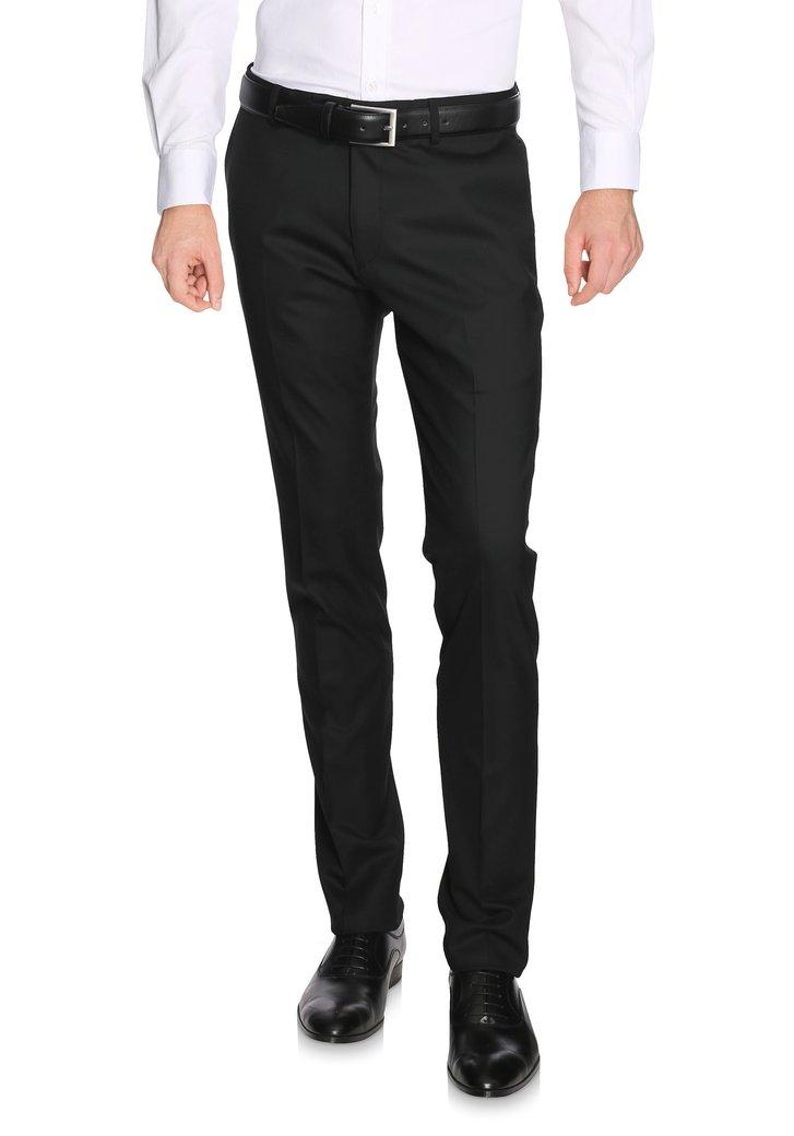Zwarte kostuumbroek - Litt - regular fit Heren, merk: Dansaert Black