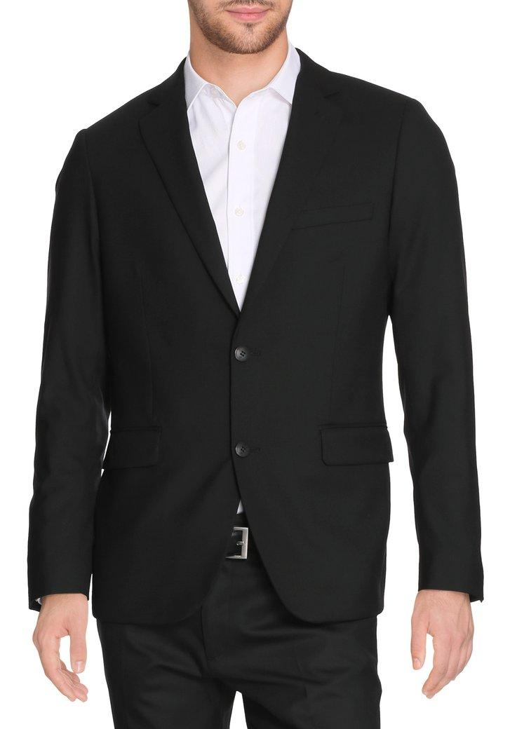 Zwarte kostuumvest - Litt - regular fit Heren, merk: Dansaert Black