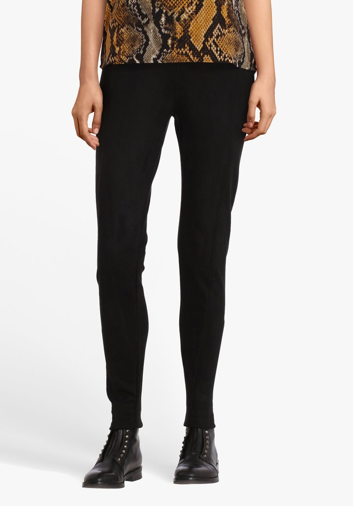 Zwarte legging in suède