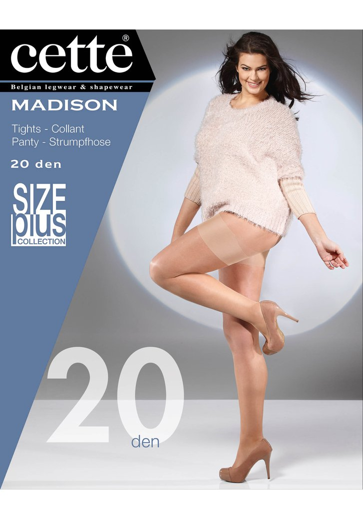 Zwarte panty plus size Madison - 20 den