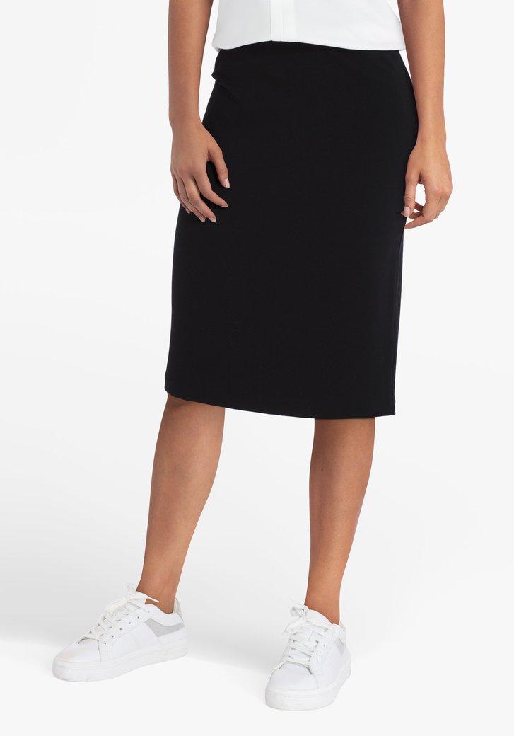 Zwarte rok met elastische tailleband