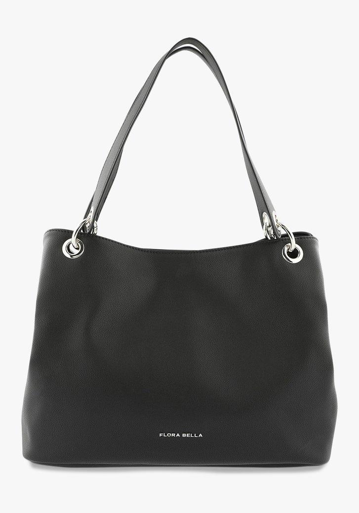 Zwarte ruime handtas