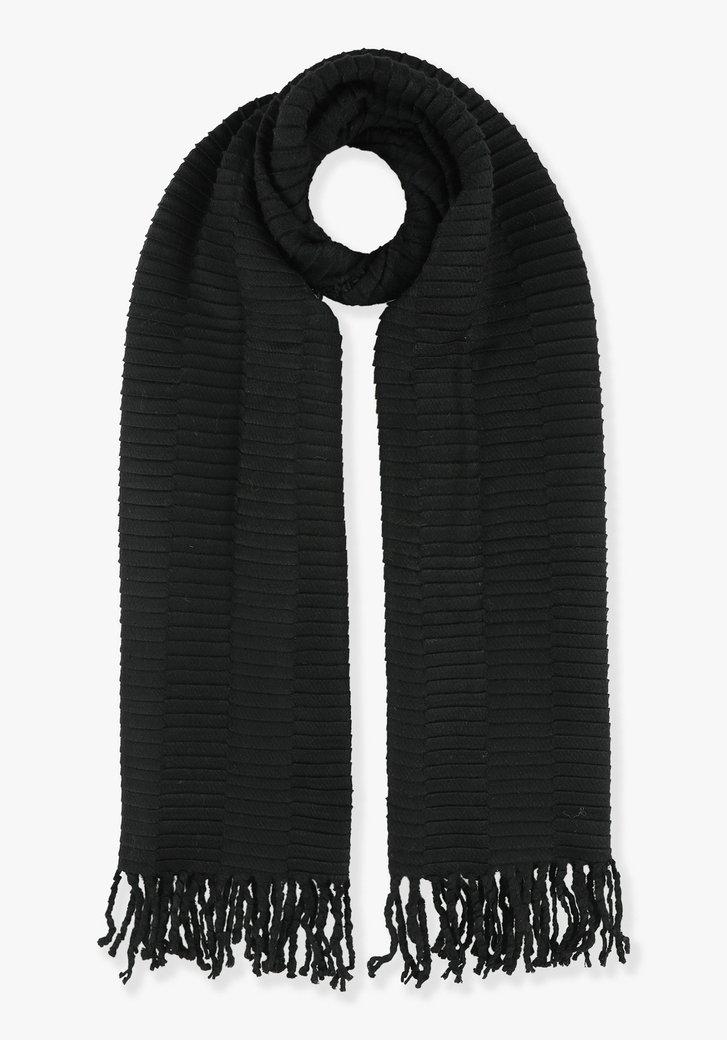 Zwarte sjaal in structuurstof