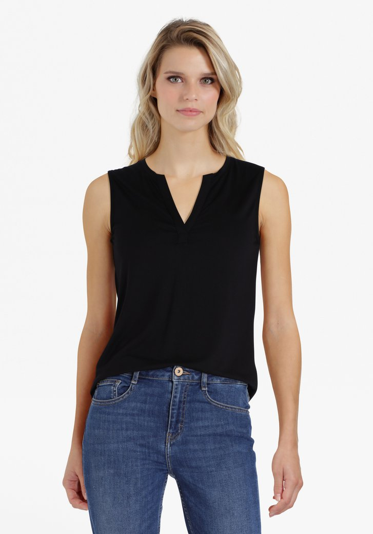 Zwarte top in modal