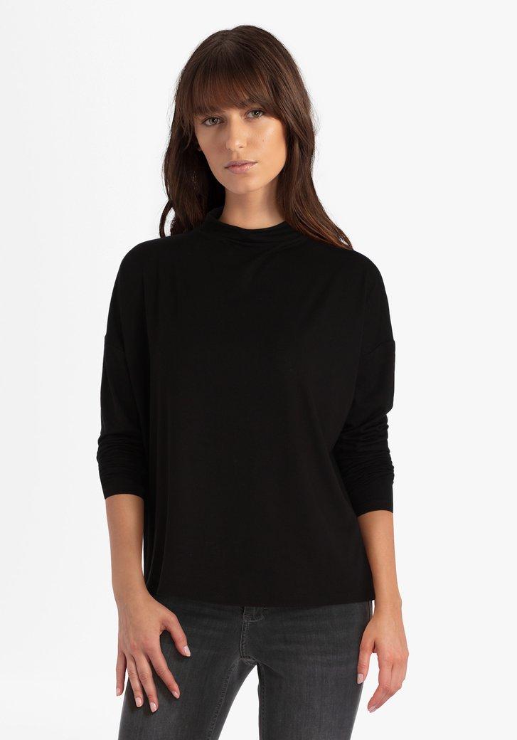 Zwarte trui met col