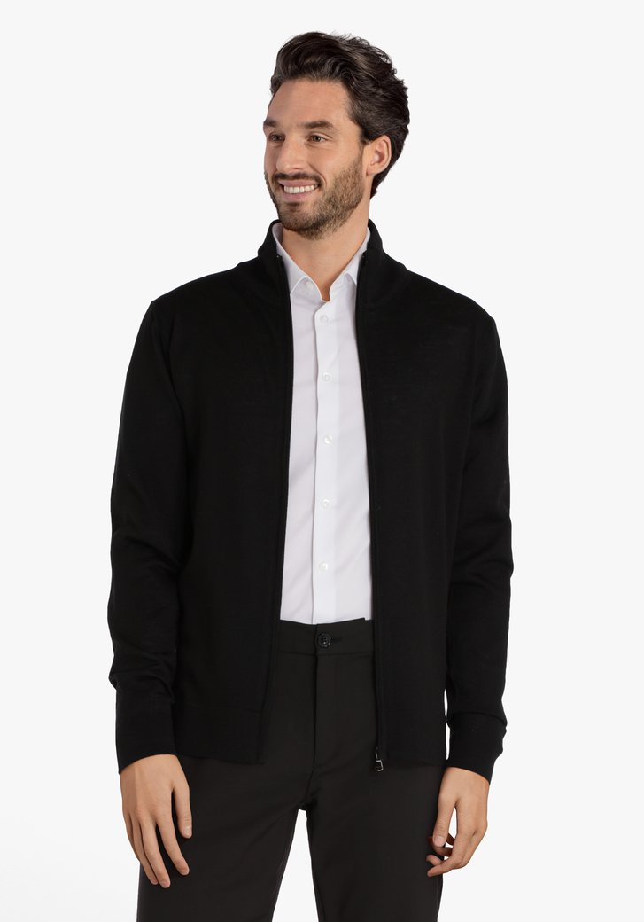 Zwarte trui met rits